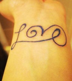 cute short love quote tattoos for girls - black short love quote tattoos-i92036.jpg (300×340)