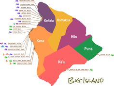Beaches Map - Big Island, Hawaii I so wish I would of had this a couple of weeks ago. Next time I'll hit the rest. Moving To Hawaii, Hawaii Vacation, Hawaii Travel, Vacation Ideas, Hawaii Trips, Travel Usa, Island Map, Island Beach, Big Island Hawaii Hotels