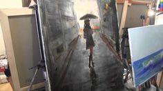Painting girl with umbrella Illustration Art, Fine Art, Artist, Painting, Youtube, Diy, Ideas, Tutorials, Bricolage
