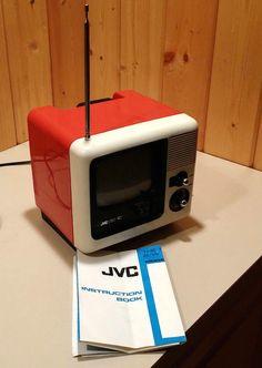 Vintage JVC 3020 Portable Tv, Vintage Television, Tv Sets, Robot Design, Vintage Tv, Old Tv, Mid Century Design, Tvs, Modern Design