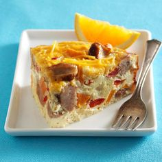 I love a good Breakfast Casserole, but this one can be done in a slow cooker! Even better!!!
