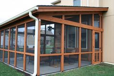Cedar screen porch, i like this, simple. i just want wood at the bottom