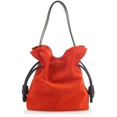 Loewe Flamenco Knot suede bag (52 125 UAH) ❤ liked on Polyvore featuring bags, handbags, suede bags, red bags, suede leather bag, red handbags and red suede handbag