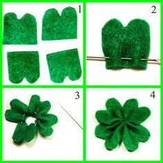 Easy diy four leaf clovers