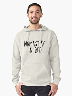 NAMASTAY IN BED Pullover Hoodie