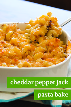 Cheddar and Pepper Jack Pasta Bake – Elevate your mac and cheese game with cavatappi pasta and a blend of cheeses. You'll need panko bread crumbs, too, for a crispy finishing touch.