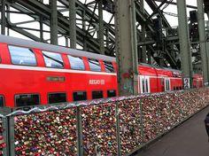 Love Locks on Hohenzollernbrucke bridge in Cologne, Germany- someday