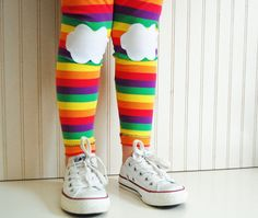 Leggings Rainbow with Clouds