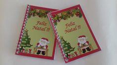 Bloco modelo Natal na frente e Ano Novo com calendário 2016 atrás. <br>40 páginas, capa papel 180 gr . <br>Acompanhe saco plástico , fita e tag de natal <br> <br> <br>**Se preferir vai sem plástico <br>e o valor fica só do bloco R$3,50.