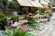 Image of 'Street cafe' on Colourbox