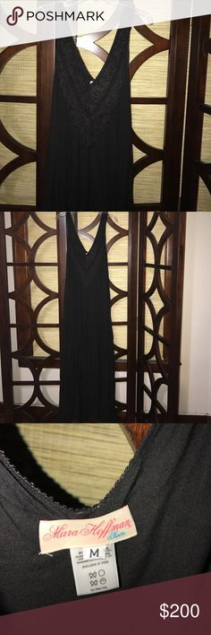 Black fringe gauze maxi Mara hoffman maxi dress. Worn once Mara Hoffman Dresses Maxi