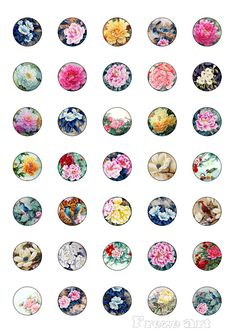 Digital Collage Sheet - 1inch -