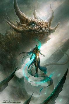 Luz de dragon by Dibujante-nocturno on deviantART