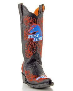 The Boise State University boots from Gameday Boots are the perfect footwear for a Bronco tailgater, game or party. Step out in these ladies Boise State boots and show your pride in the Bronco! Built to last, these Boise State boots are sure to be conversation-starters wherever you go.