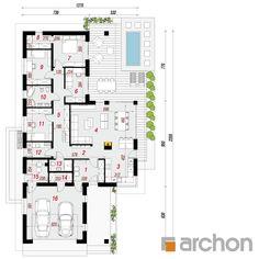 projekt Dom w araukariach (G2) rzut parteru