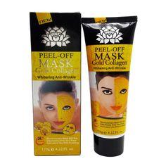 120g 24K Gold Mask Collagen Facial mask Peel off Skin Whitening Anti wrinkle Anti Aging mask