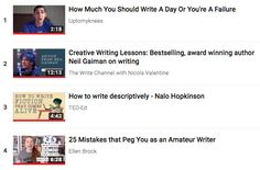 Writing, a how-to youtube playlist