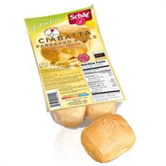 Really good ciabatta rolls, with an even better calorie count.  Only 100 calories each!
