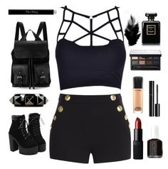 """""""✖️✖️✖️✖️"""" by sukhaulakh on Polyvore featuring Boutique Moschino, Valentino, Aspinal of London, Essie, NARS Cosmetics, Chanel, MAC Cosmetics and Christian Dior"""