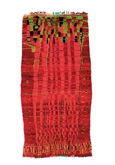 Boujad, 1930. Wool. Marocco. Collection Adam. Photo Florian Schreiber. From the book Marocan carpets and modern art, (de/e) Florian Hufnagel, Die Neue Sammlung, Munich. By Arnoldsche Art Publishers
