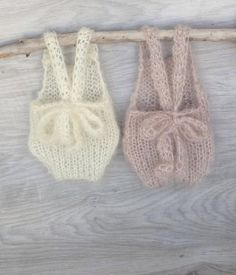 Very sweet knit newborn rompers. Crochet Baby Cocoon, Crochet Romper, Baby Knitting Patterns, Newborn Diapers, Baby Girl Romper, Baby Costumes, Crochet Slippers, Girls Rompers, Baby Sweaters