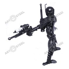 Jango Fett is a fearless warrior and father of Boba Fett. This particular Jango Fett model is made with varying screw sizes and carries a weapon made from a spark plug.   $59.99