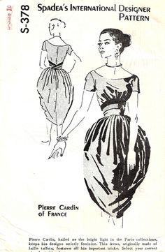 1950s tulip skirt dress