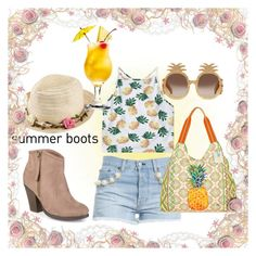 """""""summer boots"""" by moonstar843 on Polyvore featuring Forte Couture, Journee Collection, Joe Browns, Gucci and Sun N' Sand"""