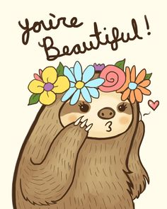 """kteacrumpet: """" In case anyone needed a reminder today. Baby Sloth, Cute Sloth, Family Quotes Love, Baby Animals, Cute Animals, Dibujos Cute, My Spirit Animal, Cute Drawings, Cute Pictures"""