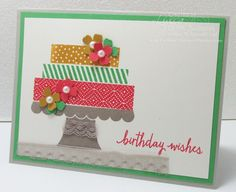 Build a Birthday sneak peek - Cake with Lace Tablecloth Stampin Up In Colors