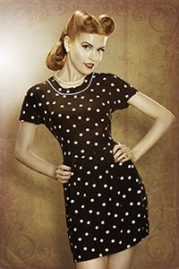 1950s Girl with retro look