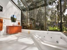 Get back to nature with this immersive bush view #bathroom #homeideas