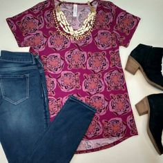 Classic T.  Love this?  Shop more like this by visiting https://www.facebook.com/groups/lularoemarisamoranvip