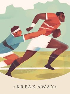 The illustration of Martin Wickstrom – commercial art for publishing and advertising across any field. Rugby Sport, Deep House Music, Commercial Art, Character Design, Sports, Blog, Flat Design, Vintage, Comic