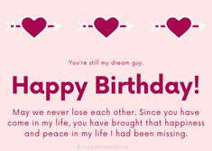 Short and Long Emotional Birthday Wishes for Boyfriend Long Birthday Wishes, Birthday Wishes For Boyfriend, Boyfriend Texts, Boyfriend Quotes, Messages For Him, Text Messages, Happy Birthday Text Message, Anniversary Quotes For Boyfriend, Tagalog Quotes Hugot Funny