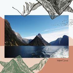 Drawn to New Zealand by #Angela #TamВдохновляйтесь Анжела Сидней- #иллюстратор и #дизайнер