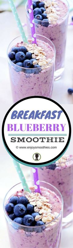 Wake up to a berry breakfast smoothie. Super delicious and healthy.
