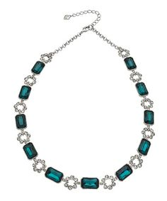 Carolee Regal Reflection Peacock Collar Necklace #maxandchloe