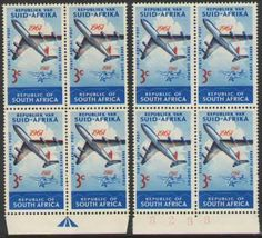 outh Africa - Republic 1961 (1 Dec). AIRCRAFT / COMMEMORATIVES Aerial Post Anniversary 3c