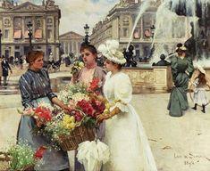 louis+de+schryver | louis marie de schryver french artist 1862 1942 flower seller