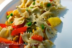Pasta salad with pineapple and oranges