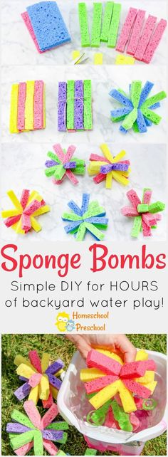Have you ever made sponge bombs with your kids? If not, check out the super simple tutorial below and get ready for an amazing afternoon of summer fun!  via @homeschlprek