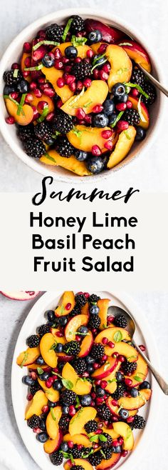 Fruit Salad Making, Fruit Salad Recipes, Peach Salad Recipe, Recipes With Fruit, Paleo Fruit, Fruit Salads, Delicious Fruit, Yummy Food, Tasty