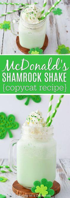 You can make Mcdonald's Shamrock Shake Recipe at home! We love copycat recipes & this shamrock shake is so easy. This McDonalds milkshake will be a hit.