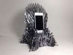DIY Game of Thrones' Iron Throne Phone Stand - YouTube