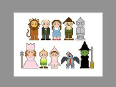 THIS IS FOR A PDF PATTERN ONLY.    Wizard Of Oz Pixel People Pattern  Pattern measures 7 x 5 on 14 count cloth.    Characters include: Cowardly