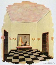 living room german art deco interior design architecture