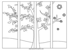 Drawing to paint Teaching Activities, Teaching Kids, Painting For Kids, Art For Kids, Four Seasons Art, Party Girlande, Quiet Book Templates, Apple Theme, School Decorations