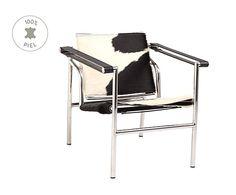 Silla tapizada de piel de potro Le Corbusier