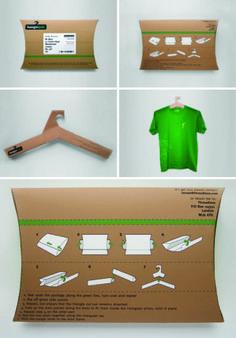Cardboard t-shirt packaging